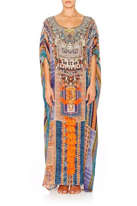 L Kaftan Rinna Swarosky new camilla franks silk swarovski indigo trail neck kaftan dress ebay