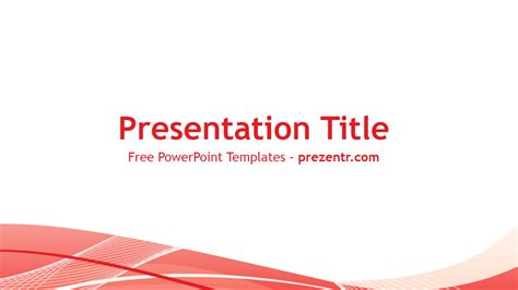 Free Red Lines Powerpoint Template Prezentr Powerpoint Templates Free Simple Powerpoint Templates