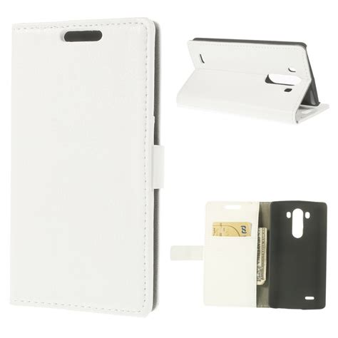 Leather Flip Lg G3 lg g3 white litchi leather wallet flip