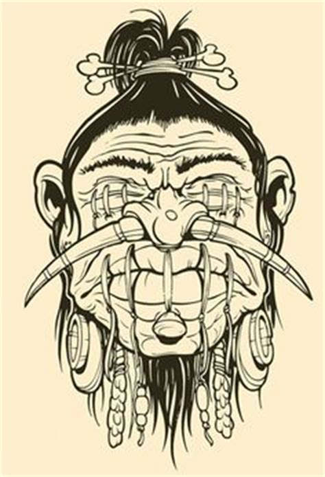 tattoo parlor jefferson city mo tiki drawings illustration this tiki mask is for a