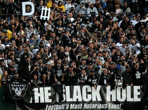what section is the black hole at raiders games oakland raiders quotes like success
