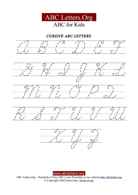 printable alphabet tracing chart printable cursive letter tracing chart uppercase abc