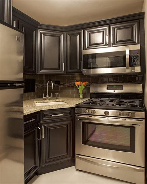rooms to go appliances black gold residence traditional kitchen new york by burgos design