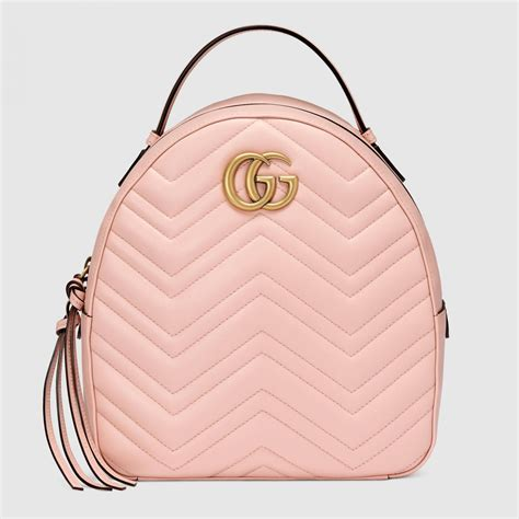light pink leather backpack backpacks pink gucci gg marmont quilted leather backpack