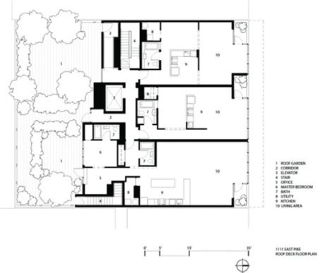 floor plan with roof plan architecture photography housing 1111 e pike olson