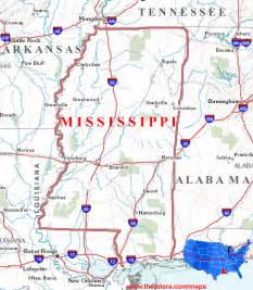 Ms State Map by Mississippi Maps