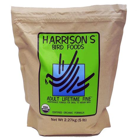 harrison s adult lifetime fine organic bird food 5 lb