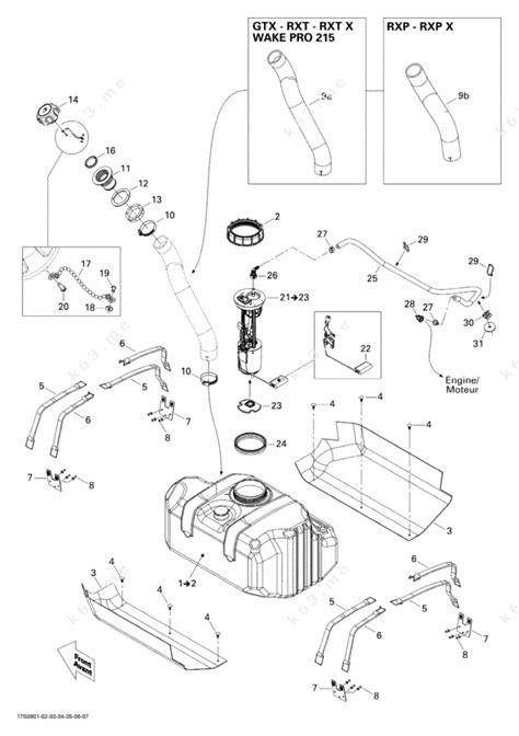seadoo parts diagram sea doo 2009 gtx gtx 215 fuel system parts catalog