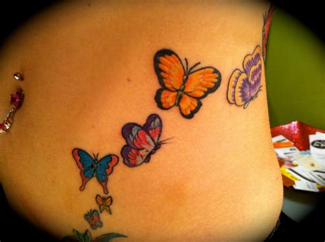 tattoo butterfly on stomach miss kitty tattoos art and happenings butterflies