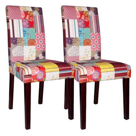 polsterstuhl bunt salesfever stuhl im 2er set patchwork samt 187 santo 171 otto