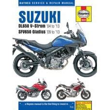 Suzuki V Strom Parts Catalogue Haynes Repair Manual Suzuki Dl650 V Strom 5643