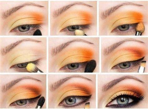 orange makeup tutorial spring orange yellow eyeshadow tutorial makeup