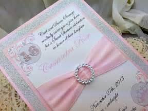 Elegant Pocket Wedding Invitations Wedding Quinceanera Sweet Sixteen Light Pink And By Invitebling