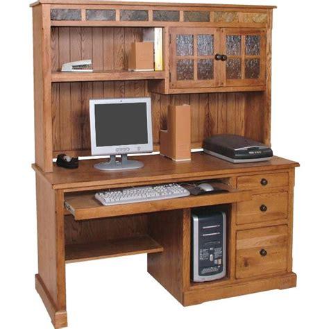 oak computer desk with hutch rustic oak slate collection rustic oakcomputer desk w