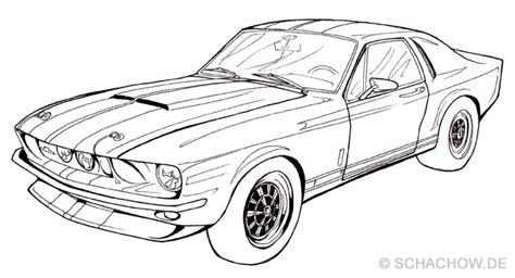 Auto Bilder Selber Malen by Zeichnung Ford Mustang Zeichnungen Pinterest Ford