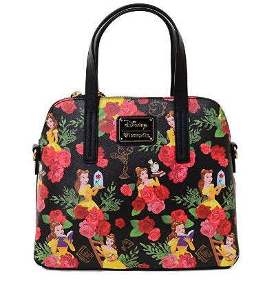 disney discovery loungefly belle floral handbag