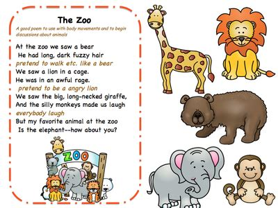 Theme Music To Zoo Time | songs poems and finger play for toddlers preschool