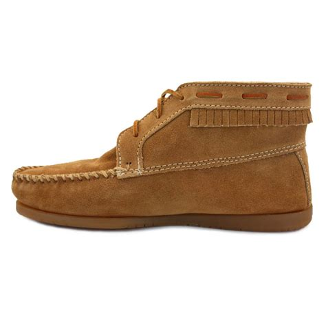 mens minnetonka boots minnetonka chukka boots mens laced suede ankle boots taupe