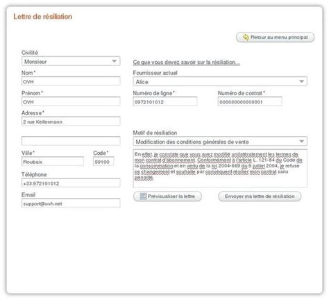 Free Lettre De Rã Siliation Comment Arreter Ligne Free