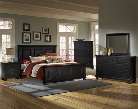 vaughan bassett bedroom furniture vaughan bassett reflections 534 ebony bedroom group