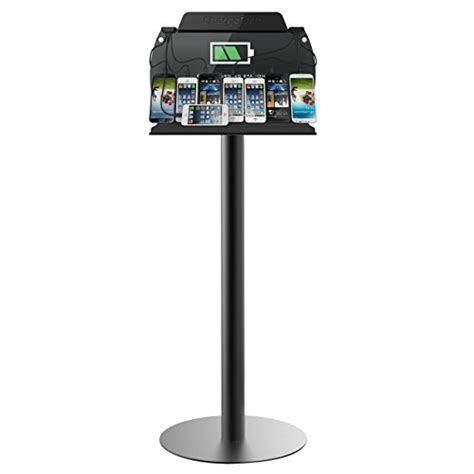 chargetech tower floor stand cell phone charging station w universal charging tips included