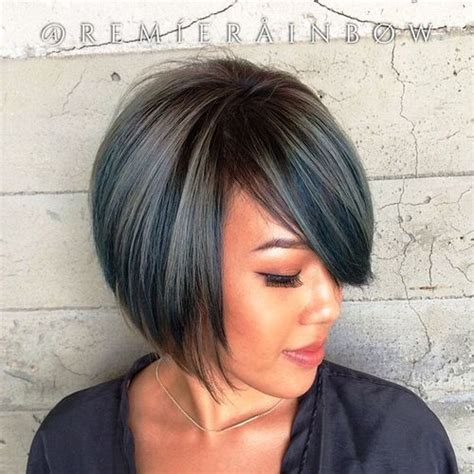 layered chin length blunt cut with bangs 40 layered bob styles modern haircuts with layers for any