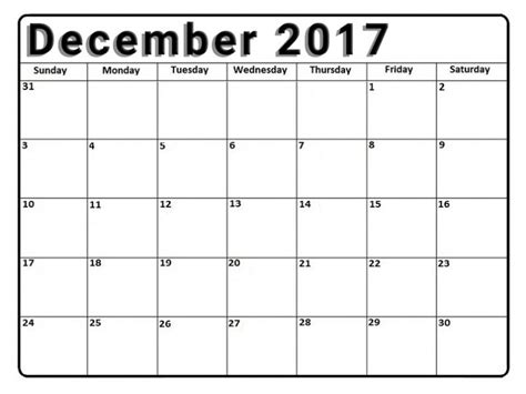 printable calendar to write on 2017 december 2017 calendar printable template with holidays uk