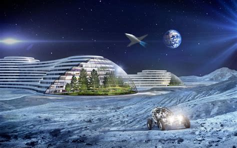 space house holidays on the moon and mars travelling in drones and