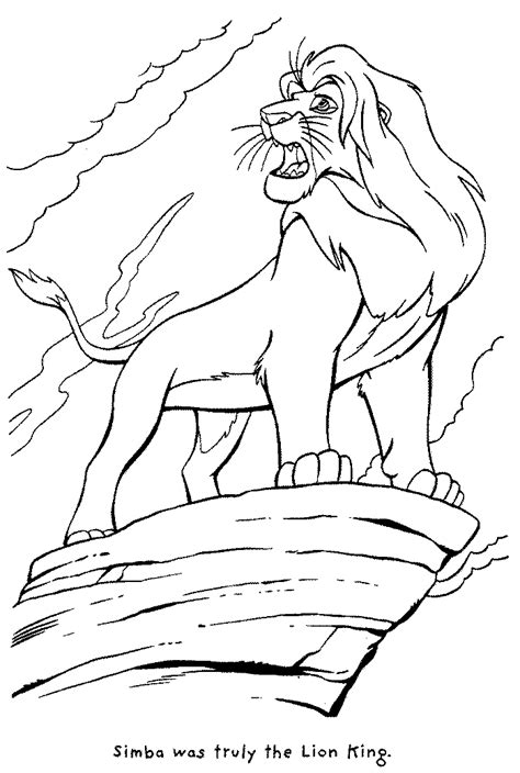 free printable coloring pages for lion king lion king coloring pages learn to coloring