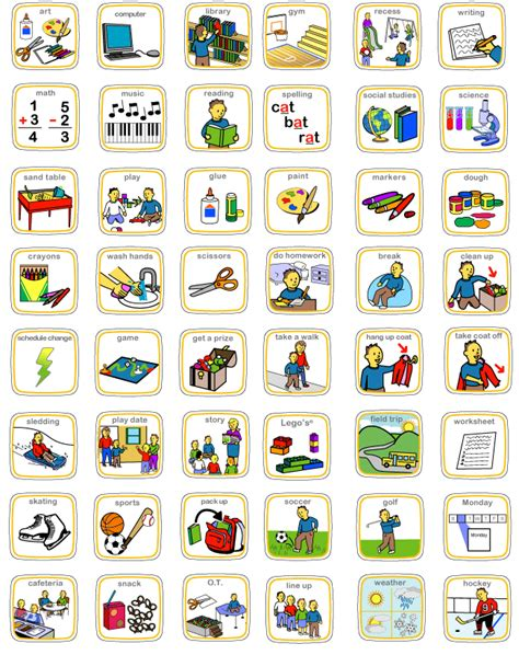 printable visual schedule pictures visual schedules printable calendar template 2016