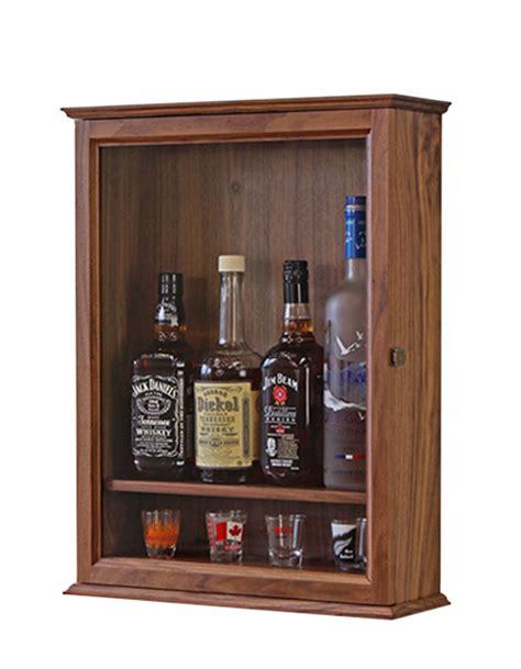 liquor display cabinet wood displays