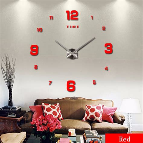 diy 3d home design decoration home decor large art diy 3d wall clock design