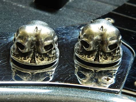 Precision Bass Knobs by 4 Skull Guitar Parts For Fender Precision P Bass Guitar
