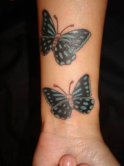 butterfly wrist tattoos meanings