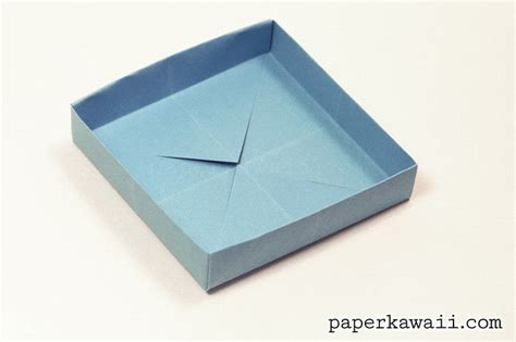 Paper Box Fold - shallow origami box 183 how to fold an origami box