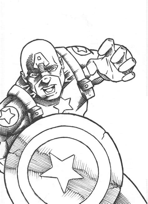 Free Printable Captain America Coloring Pages For Kids Captain America Color Page