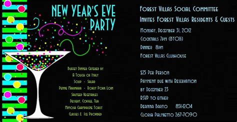 Printable New Years Eve Party Invitations Free New Years Invitation Templates Free