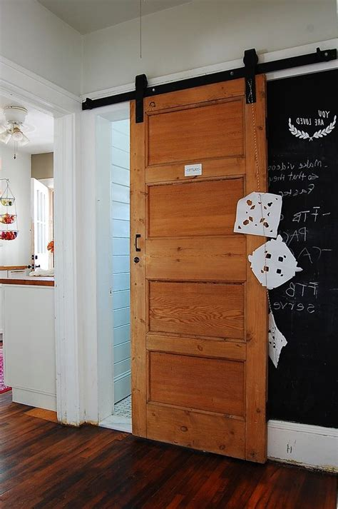 Overlapping Doors Hall Eclectic With Chalkpaint Black Barn Overlapping Barn Doors