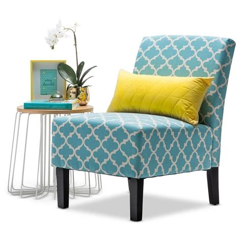 Teal Print Chair Fabric Armchair In Teal And White Patterned Print Buy