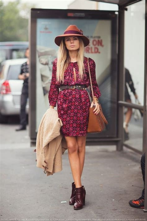 Minidress Fall fall minidress with ankle boots and hat chicideaz