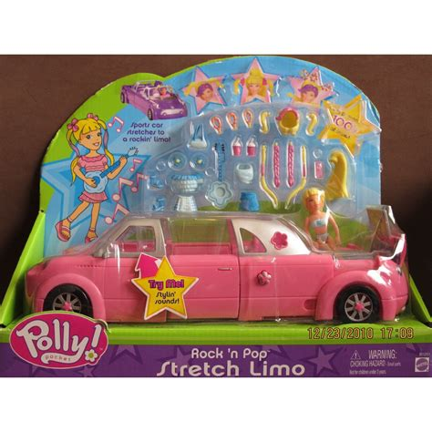 Polly Pocket Auto by Polly Pocket Rock N Pop Stretch Limo Car Pink Limousine