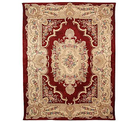 qvc area rugs royal palace royal palace stately 9x12 wool rug qvc
