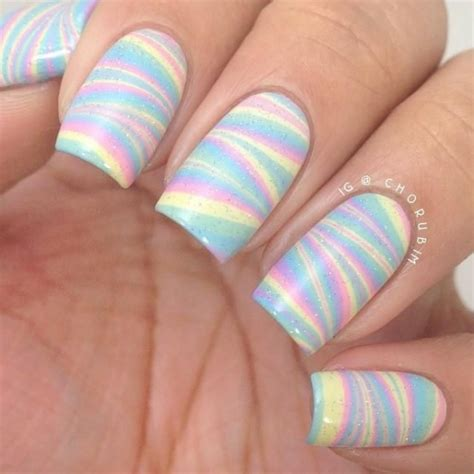 9 Fab Summer Nail Polishes Pastels Need Not Apply by Water Marble The Nail Patterns Fashionable