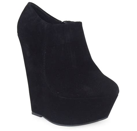 Heel W1398 New Arrival 9 Oct 2015 new womens faux suede ankle high platform high