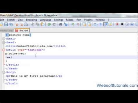 html tutorial text color html and css tutorial 18 text property in css text