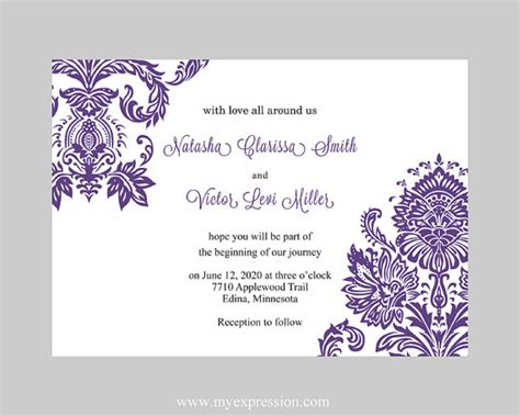 free templates for best collection of free printable wedding invitation