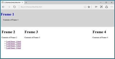 html layout side by side how to use tags in html