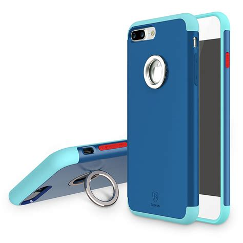 For Iphone 7 Plus With Stand Ring Soft Casing for iphone 7 7 plus baseus tpu bumper pc magnetic ring holder cover ebay