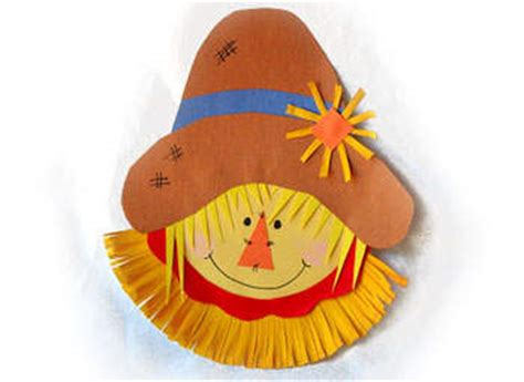 Scarecrow Paper Plate Craft - scarecrow crafts archives family craftsfun family crafts