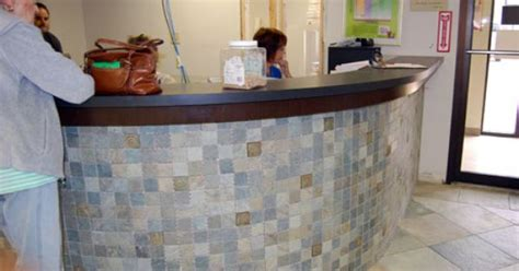 Tile Reception Desk Southpointe Renovations Reception Tiled Reception Desk
